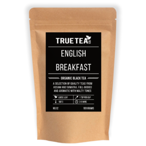 English Breakfast Organic Black Tea Packaging