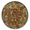 A rooibos tea with eucalyptus leaves and orange