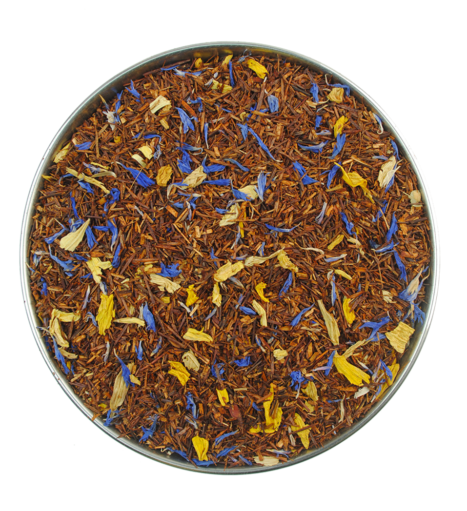 a summer rooibos tea with passion fruit flavour