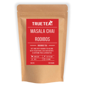 masala chai rooibos tea packaging
