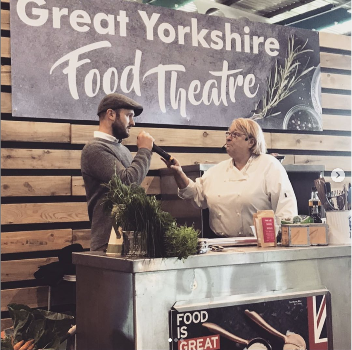 rosemary shrager talks with true tea at the great yorkshire show